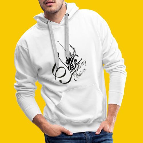 twirling b 2 - Sweat-shirt à capuche Premium pour hommes