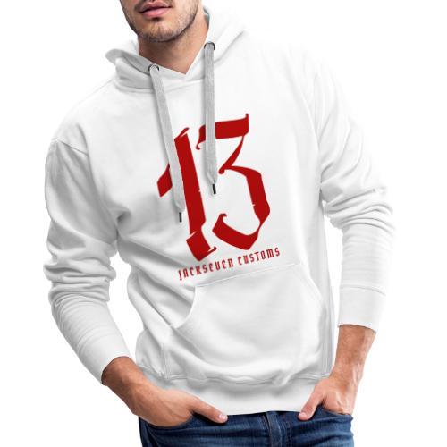 13 Jackseven Customs - Nummer 13 - Number 13 - Männer Premium Hoodie