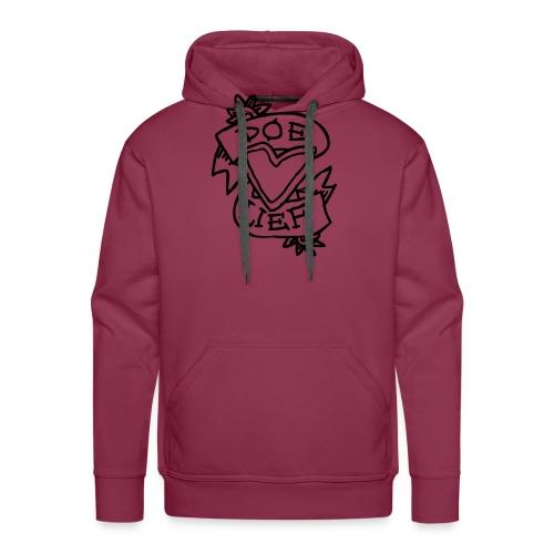 doe lief hart tattoo - Mannen Premium hoodie