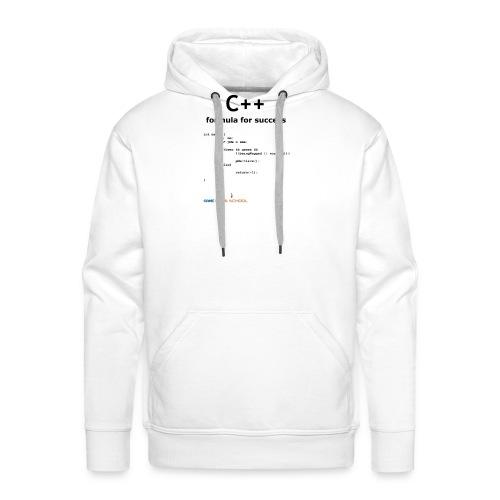 C++ Programmer's formula for success - Men's Premium Hoodie
