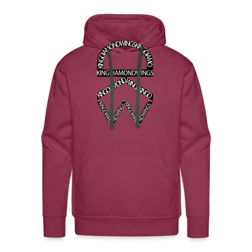 King Diamond Wings Logo - Men's Premium Hoodie