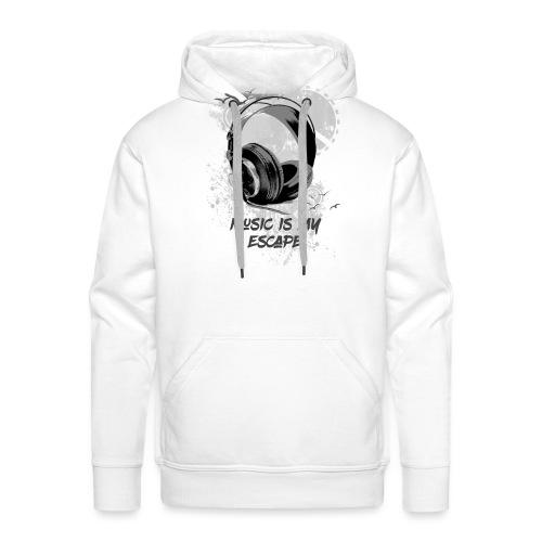 music is my escape - Sweat-shirt à capuche Premium pour hommes