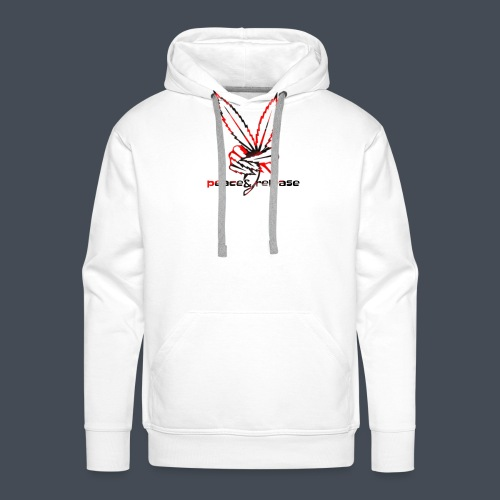 Peace&release red/black edition - Mannen Premium hoodie