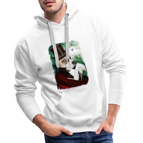 Gothic Dog #3 - Felpa con cappuccio premium da uomo