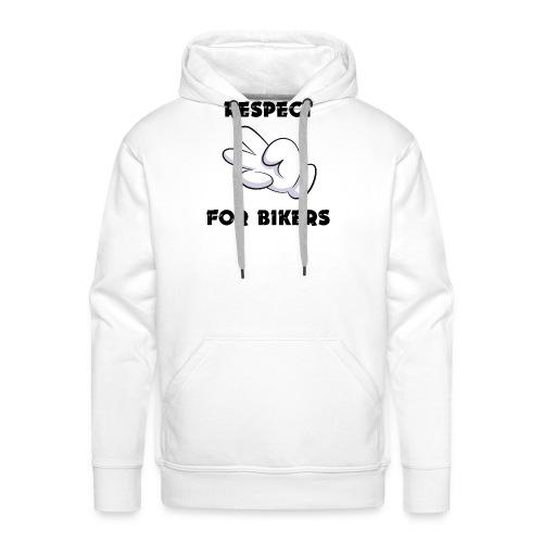 Respect for Bikers - Felpa con cappuccio premium da uomo