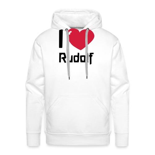 I love Rudolf - Männer Premium Hoodie
