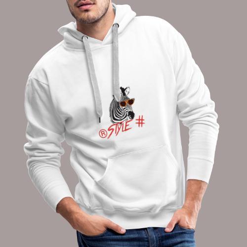 Tiere +Zebra +Zebras +Geschenk + Style + - Männer Premium Hoodie