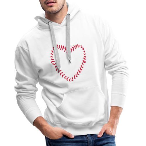 2581172 1029128891 Baseball Heart Of Seams - Men's Premium Hoodie