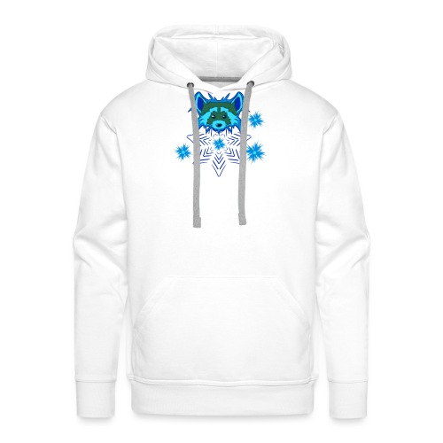 Snow Raccoon - Männer Premium Hoodie