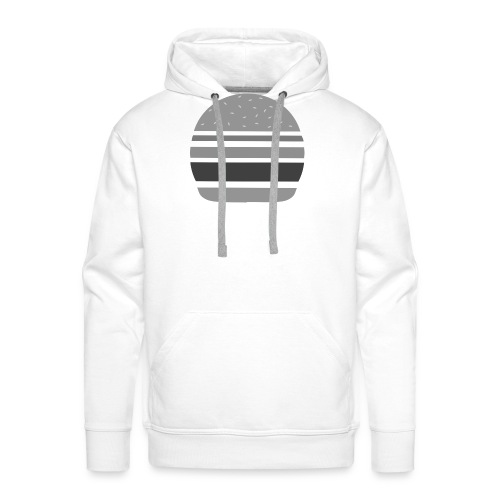 Logo_panhamburger_gris - Sweat-shirt à capuche Premium pour hommes