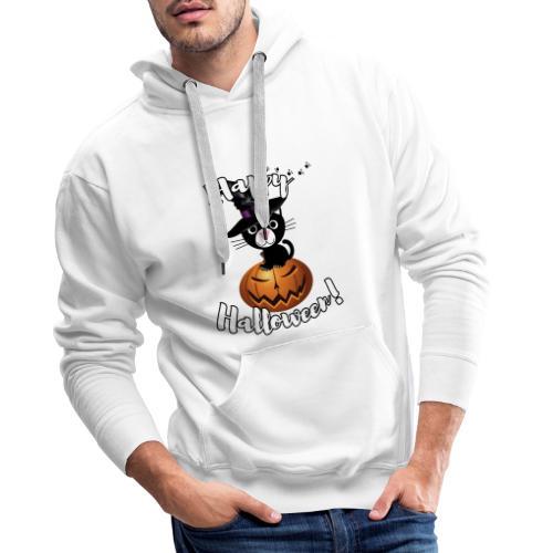 Happy Halloween Kater Jack Kürbis Geschenkidee - Männer Premium Hoodie