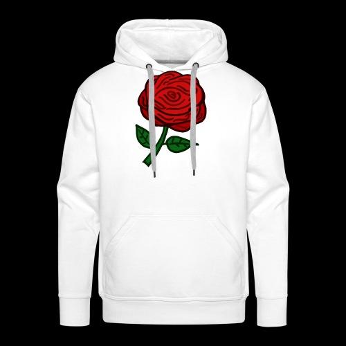 Rote Rose - Männer Premium Hoodie