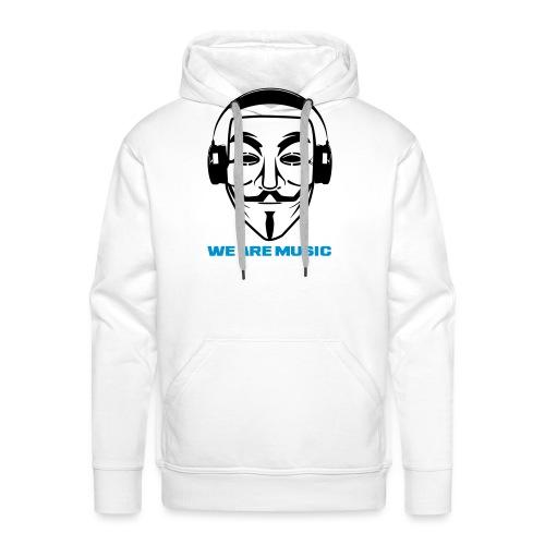 WE ARE MUSIC - Sweat-shirt à capuche Premium pour hommes