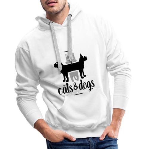 Chats et chiens - Chat et chien - Sweat-shirt à capuche Premium pour hommes