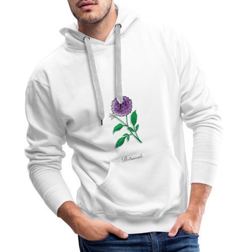 Disegno fiore di dalia - Felpa con cappuccio premium da uomo