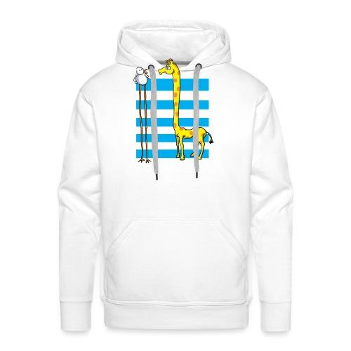 La girafe et l'échassier - Sweat-shirt à capuche Premium pour hommes