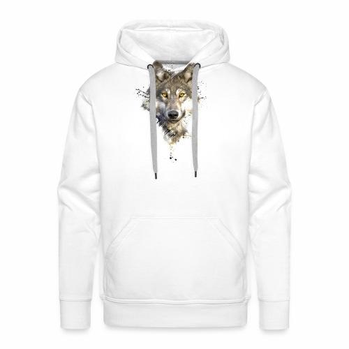 Painted Wolf - Männer Premium Hoodie