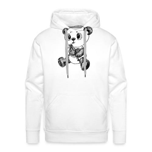 Panda Karhu musta scribblesirii - Miesten premium-huppari