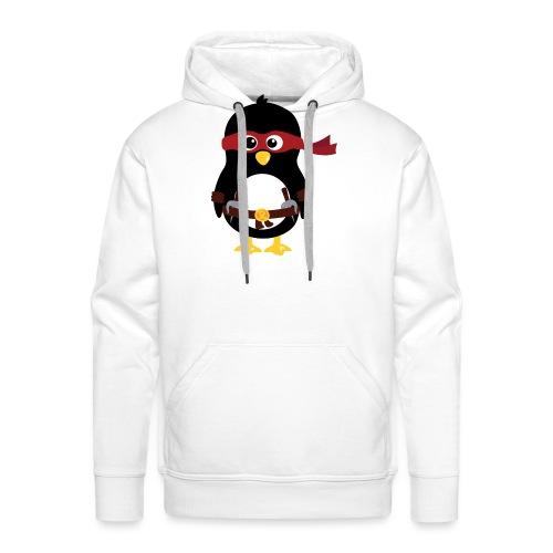Pingouin ninja Raphaelo - Sweat-shirt à capuche Premium pour hommes