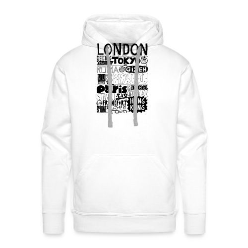 Villes du monde - Sweat-shirt à capuche Premium pour hommes