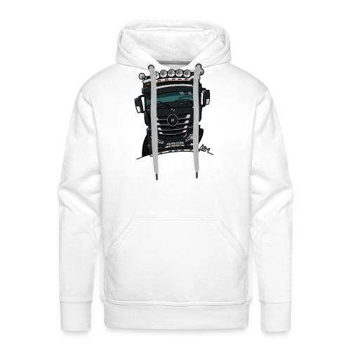 0807 M truck zwarter - Mannen Premium hoodie