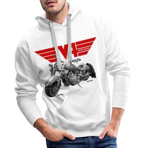 V4 Motorcycles red Wings - Männer Premium Hoodie