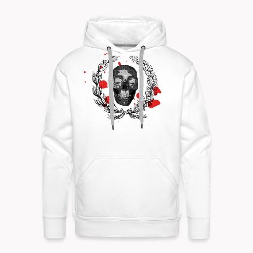 Tête de mort et tâches de sang - Sweat-shirt à capuche Premium pour hommes