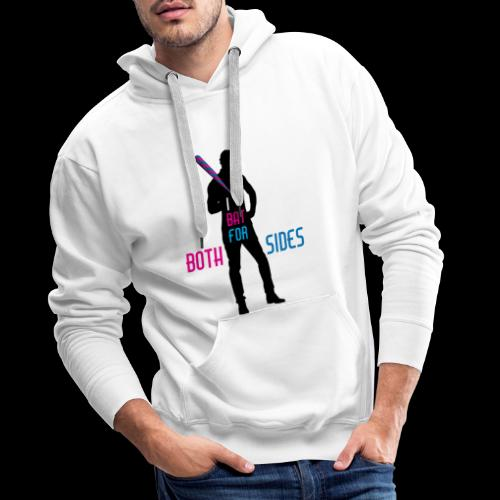 I bat for both sides male - Men's Premium Hoodie