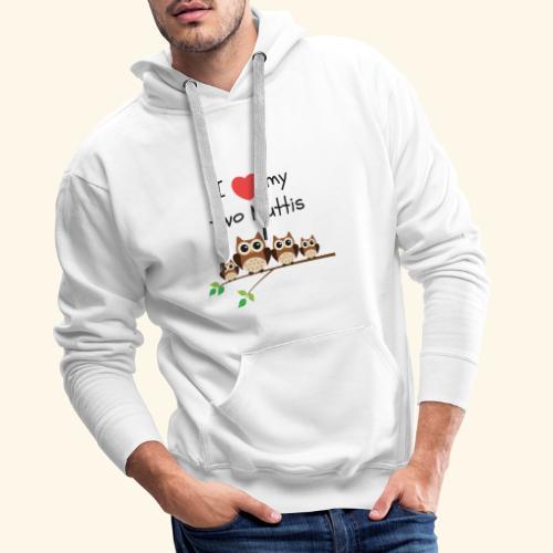I love my two Muttis - Sweat-shirt à capuche Premium pour hommes