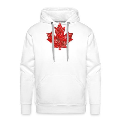 Kanada Canada Maple Leaf Ahornblatt Grunge Amerika - Men's Premium Hoodie