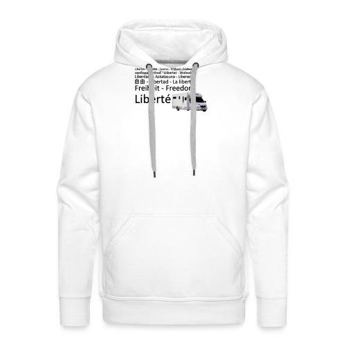 Liberte en camping car - Sweat-shirt à capuche Premium pour hommes