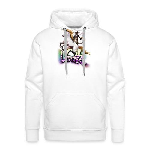 VodK licorne png - Sweat-shirt à capuche Premium pour hommes