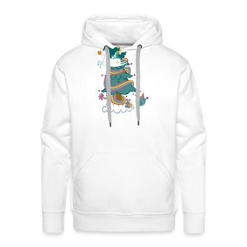 arbol-navidad - Sudadera con capucha premium para hombre