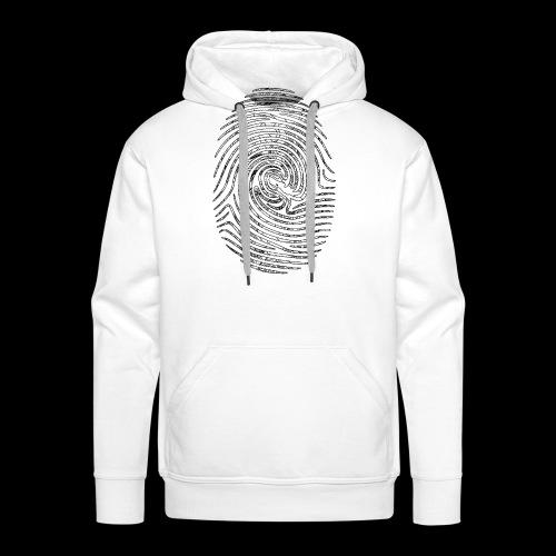 Tintenfisch Fingerabdruck schwarz - Männer Premium Hoodie