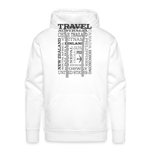 Travel Places Gray design - Miesten premium-huppari