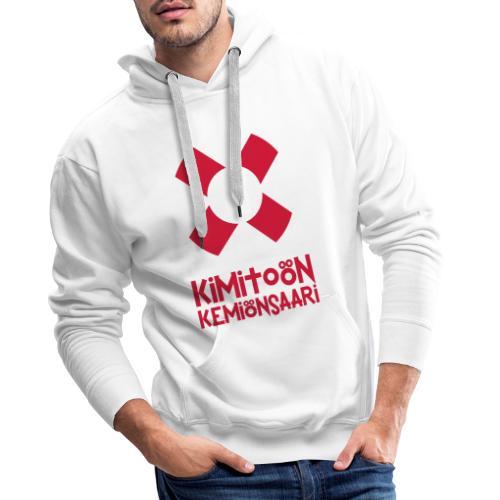 Livboj: Kimitoön (röd text) - Miesten premium-huppari