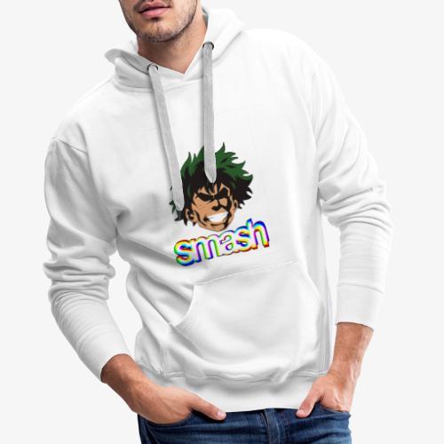 Izuku midoriya SMASH!! - Sudadera con capucha premium para hombre