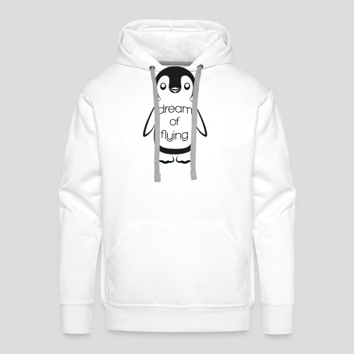Dream of Flying Pinguin - Men's Premium Hoodie