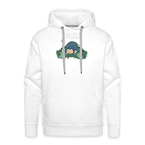 Lazy Ronflex - Sweat-shirt à capuche Premium pour hommes
