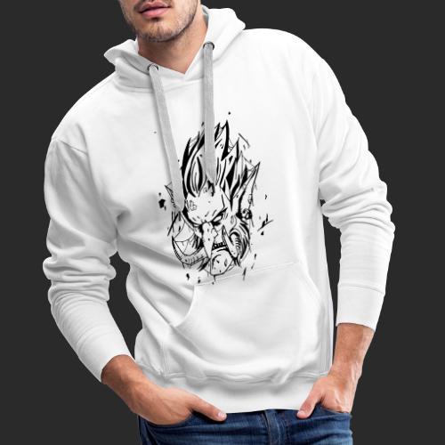 Troll style tattoo - Sweat-shirt à capuche Premium pour hommes