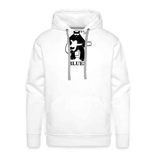Blues Music Cat Guitar - Men's Premium Hoodie