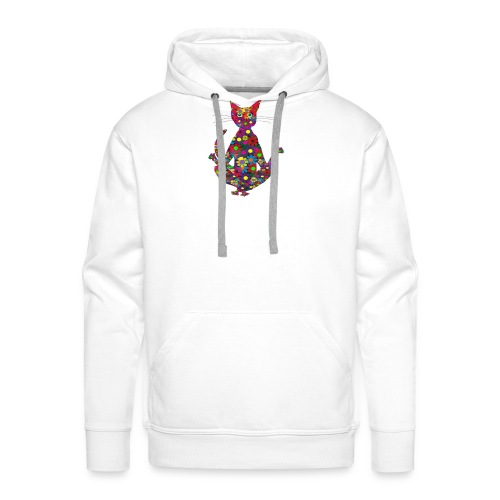 Woodstock Yoga Cat - Männer Premium Hoodie