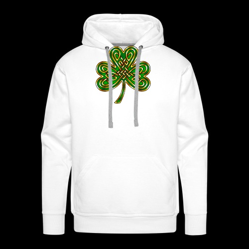 Celtic Knotwork Shamrock - Men's Premium Hoodie