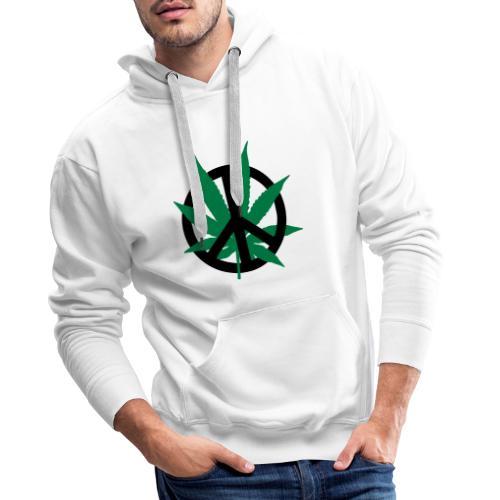 cannabis_peace - Männer Premium Hoodie