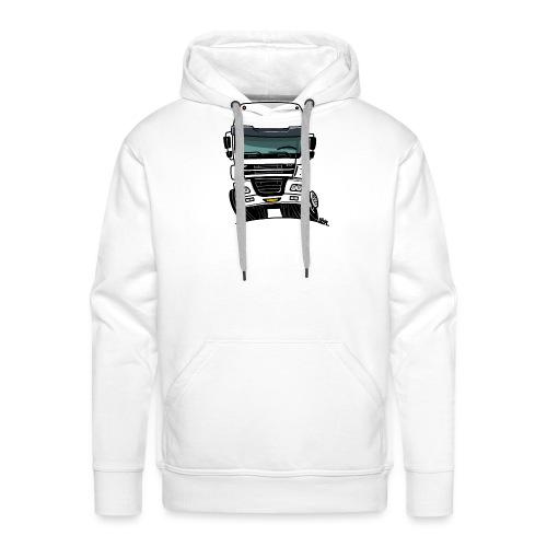 0810 D truck CF wit - Mannen Premium hoodie