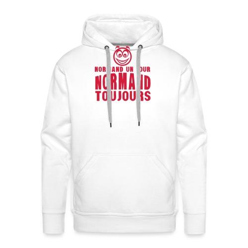 normand un jour toujours face 1 - Sweat-shirt à capuche Premium pour hommes