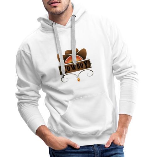 Vaquero - Sudadera con capucha premium para hombre