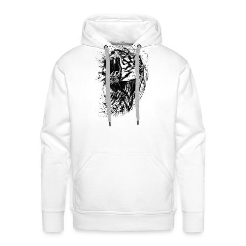 Tiger Zeichnung - Männer Premium Hoodie