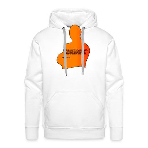 citation Bill Gates - Sweat-shirt à capuche Premium pour hommes