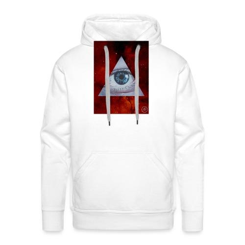 Blue Eyes Red Nebula - Men's Premium Hoodie